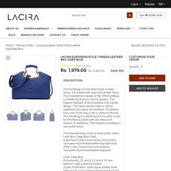 LACIRA EUROPEAN STYLE- Designer Ladies Handbags Online in India