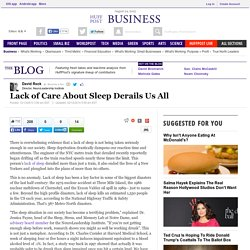 Lack of Care About Sleep Derails Us All