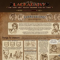 Lackadaisy Expressions - StumbleUpon