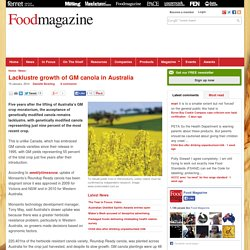 FOODMAG 15/01/14 Lacklustre growth of GM canola in Australia