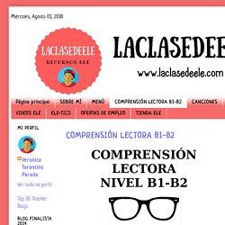 COMPRENSIÓN LECTORA B1-B2