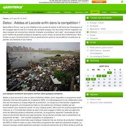 2011 : Detox - Des grandes marques de vêtements virent au vert !