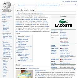 Lacoste (entreprise)