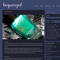 Lacquerized - A blog about nail polish