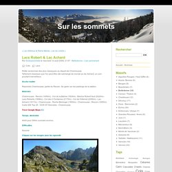 Lacs Robert & Lac Achard - Sur les sommets