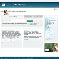 Drugs and Lactation Database (LactMed)