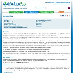 Lactobacillus: MedlinePlus Supplements