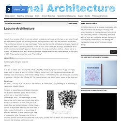 Lacuno-Architecture | Animal Architecture