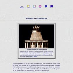 Vitruvius on Architecture