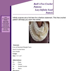 Lacy Infinity Scarf Pattern