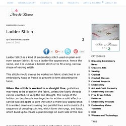 Ladder Stitch – Embroidery and Arts Creatives
