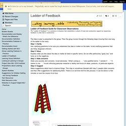 MakingLearningVisibleResources - Ladder of Feedback