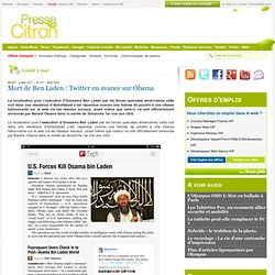 Mort de Ben Laden : Twitter en avance sur Obama