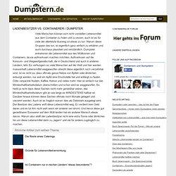 Containern, dumpstern und dumpster diving » Blog Archive » Ladenbesitzer vs. Containerer / Dumpster