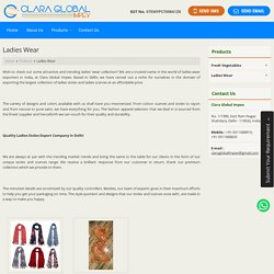 Ladies Wear Exporters from Delhi, India