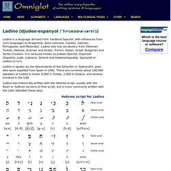 Ladino (djudeoespanyol) language