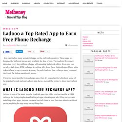 Ladooo a Top Rated App to Earn Free Phone Recharge