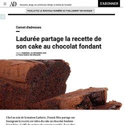 Ladurée partage la recette de son cake au chocolat fondant