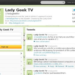 Lady Geek TV (ladygeektv) on Twitter