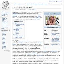 Ladyhawke (chanteuse)