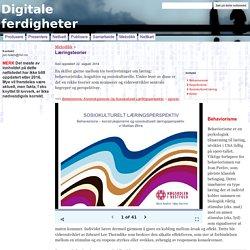 Læringsteorier - Digitale ferdigheter