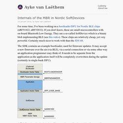 Ayke van Laëthem – Internals of the MBR in Nordic SoftDevices