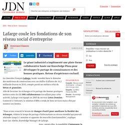 Lafarge coule les fondations de son réseau social d'entreprise