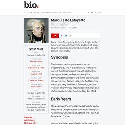 Marquis de Lafayette Biography