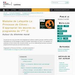 Madame de Lafayette La Princesse de Clèves - S'approprier les œuvres au programme de 1ère /2