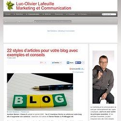 22 styles d'articles pour votre blog avec exemples et conseils