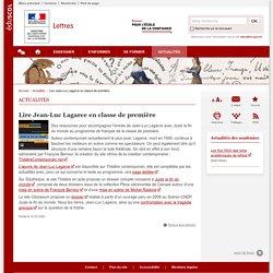 Lire Jean-Luc Lagarce en classe de première-Lettres-Éduscol