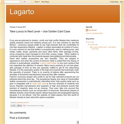 Lagarto: Take Luxury to Next Level – Use Golden Card Case