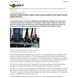 Lagazette.fr » Simulateur d'aides sociales en ligne: encore un peu de patience avant d'aider vraiment les plus précaires » Print