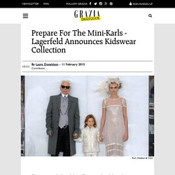 Karl Lagerfeld Announces Kidswear Collection