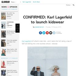 Karl Lagerfeld Kidswear line: Children's Clothes, details, Hudson Kroenig & North West