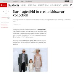 Karl Lagerfeld to create kidswear collection