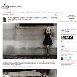 Karl Lagerfeld Shoots Claudia Schiffer for Chanel (13 photos)