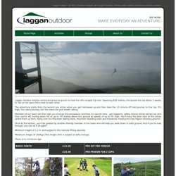 Laggan Outdoor Activity Centre Zip wire