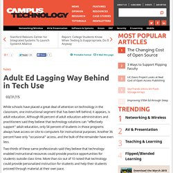 Adult Ed Lagging Way Behind in Tech Use