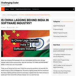 IS CHINA LAGGING BEHIND INDIA IN SOFTWARE INDUSTRY?