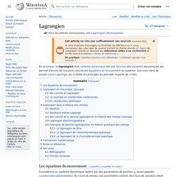 Lagrangien