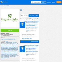 Laguna Vista Dental's Bookmarks (User lvdental)