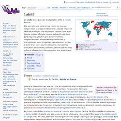 """Laïcité (article sur Vikidia à l'état d' """"ébauche"""" > peut être amélioré)"""