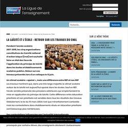 La laïcité et l'école : retour sur les travaux du CNAL - La Ligue de l'enseignement