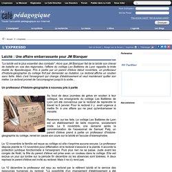 Laïcité : Une affaire embarrassante pour JM Blanquer