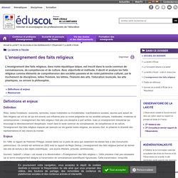 La laïcité à l'école - L'enseignement des faits religieux