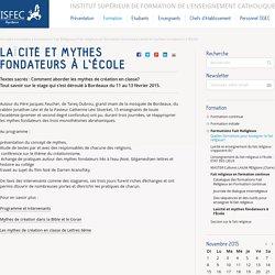 Laïcité et mythes fondateurs à l'École — ISFEC Aquitaine