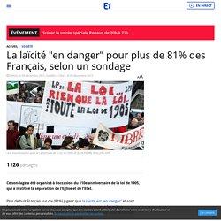 """La laïcité """"en danger"""" pour plus de 81% des Français, selon un sondage"""