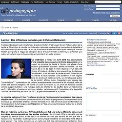 Laïcité : Des inflexions données par N Vallaud-Belkacem