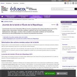 Journée laïcité à l'école de la République - Eduscol